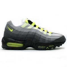 buy online 8908c bc417 NIKE AIR MAX 95 OG Neon Yellow, Yellow Black, Air Max 95, Nike
