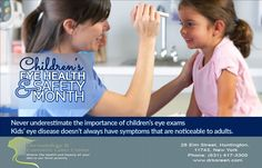 August is Children's Eye Health and Safety Month. Join us in spreading awareness by sharing this message and reminding parents to get their kids' eyes checked. #‎DermatologistHuntington‬