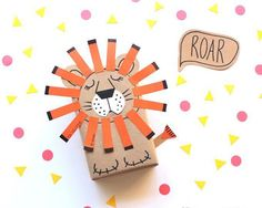 Make a sleepy lion as gift wrap for your kid's presents with this DIY tutorial.
