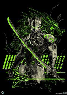 Hanzo Overwatch, Overwatch Comic, Overwatch Fan Art, Overwatch Wallpapers, Samurai Artwork, Ninja Art, Game Logo Design, Japon Illustration, Mobile Legend Wallpaper