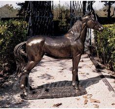2016 novo animal de bronze escultura do jardim do metal artesanato vida tamanho estátuas de cavalos para venda