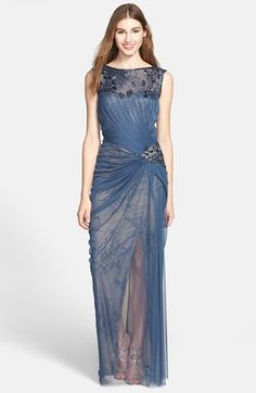 Tadashi Shoji Embellished Tulle & Lace Gown | Nordstrom