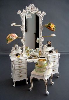 LOVE THIS! Miniature Ladies Dressing Table by Westwinds Miniatures