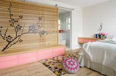 Déco chambre asiatique colorée