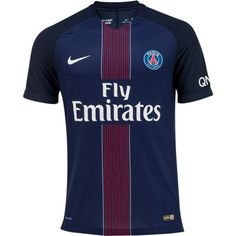 PSG Home Men Stadium Soccer Jersey Personalized name and number Item Specifics Brand: NIKE Gender: Men's Adult Model Year: Material: Polyester Football Kits, Football Soccer, Soccer Ball, Soccer Jerseys, Psg, Maillot Paris Saint Germain, French Football League, Fc Nantes, World Soccer Shop