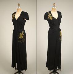 1930s scandalous cut out back dress vintage by MintageClothingCo
