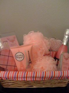 bridal shower basket idea. Prize basket.