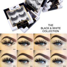Wispy Eyelashes, Mink Eyelashes, Makeup Kit For Kids, Mua Makeup, False Lashes, Natural Looks, Pairs, Black And White, Unique