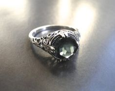 Vintage Sterling Silver Emerald Ring