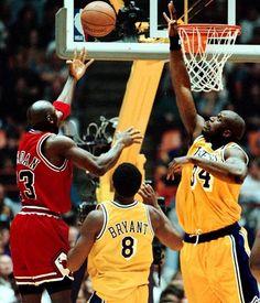 b63f15dcad97ad Michael Jordan Chicago Bulls Los Angeles Lakers Shaquille O Neal Kobe  Bryant Shaq And Kobe