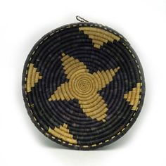 Handwoven Grass Bowl Handwoven Basket Black and by Ubushobozi