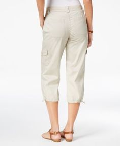 Style & Co Cargo Capri Pants, Only at Macy's - White 14