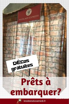 Déco Harry Potter en français à télécharger pour un anniversaire magique #magie #printable