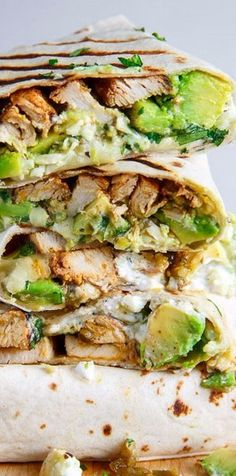 Chicken and Avocado Burritos on Closet Cooking