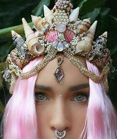 Imagen de crown, beauty, and mermaid