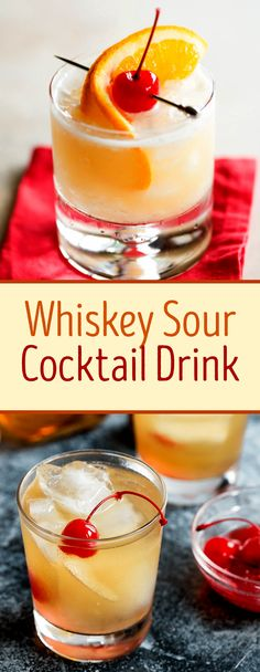 This is the best whiskey sour recipe! It combines a sharp bite of lemon with the sweetness of simple syrup and a foamy egg white mixture that you want to make repeatedly.   #whiskeydrink  #whiskeycocktail  #whiskeysour  #sourcocktail  #cocktaildrink  #drinkrecipe