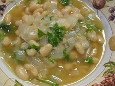 Ancient Bean Soup - (Fasolada). Uses honey, lard and beef broth from the original CARE Package. #CAREPackageRecipes