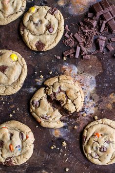 chocolate chunk pb honey cookies