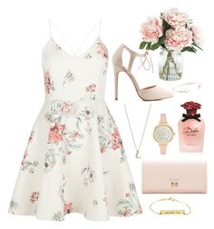 """""""Untitled #75"""" by heavenlyxjoanne ❤ liked on Polyvore featuring New Look, Dolce&Gabbana, Charlotte Russe, Kismet by Milka, Kate Spade, Ted Baker and Home Decorators Collection"""
