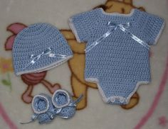 Baby Boy Crochet Onesie Set