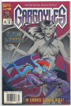 """Venus In Stone"" is the sixth issue of the Gargoyles comic book published by Marvel Comics. It was released in July, Gargoyles Characters, Gargoyles Cartoon, Disney Gargoyles, Cartoon Books, Comic Book Characters, Comic Books, A Thousand Years, Vigilante, Saturday Morning Cartoons"