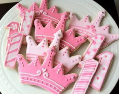 Decorated Princess Tiara/Crown and Number Cookies