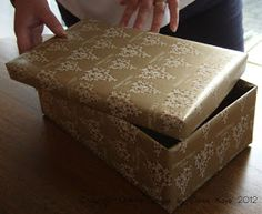 I am often asked 'what is the easiest way to wrap a shoe box?' I know people wrap them to send off for charity but they're also a useful ...