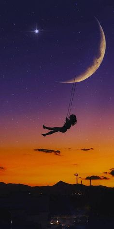 - #planodefundo Silhouette Photography, Silhouette Art, Galaxy Wallpaper, Wallpaper Backgrounds, Iphone Wallpaper, Beautiful Moon, Jolie Photo, Pretty Wallpapers, Anime Scenery