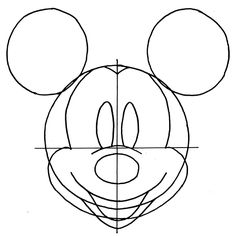 How To Draw Mickey Mouse - easy step by step instructions