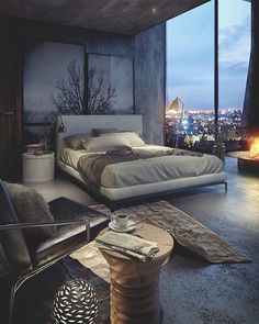 Elegant bedroom tend