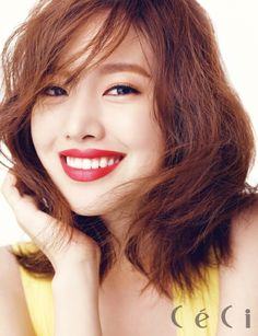 Korean Actress Jin Se Yeon Ceci Magazine July 2015 Photoshoot Makeup