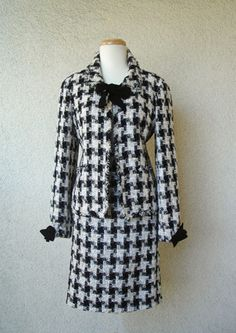 Vintage Chanel Houndstooth Suit ~ can purchase now at VOUS VALET,Vancouver[Dec.2013]