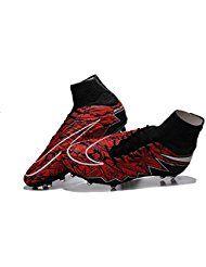 demonry zapatos para hombre Hypervenom Phantom II FG – Botas de fútbol de  fútbol de color rojo ca9e67103855b
