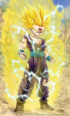 Gohan Super Saiyan 2 ....pretty much my entire childhood was spent tryin to…