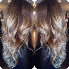 Light brown w/ blonde balayage