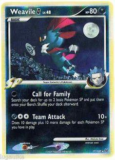 Pokemon Card Platinum Reverse Holo Rare Weavile G 17/127 FREE combined shipping