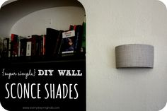 More click [.] Do It Yourself Wall Sconces Wall Lights super Simple Diy Wall Sconce Shades Everyday Originals Super Simple Diy Wall Sconce Shades Diy Light Shade, Wall Light Shades, Lamp Shades, Easy Diy, Simple Diy, Super Simple, Luminaire Mural, Diy Wood Wall, Exterior Wall Light
