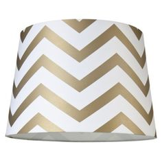 Mix-and-Match Lamp Shade - Chevron Lamp Shade - Gold (Large).Opens in a new window