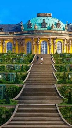 Sansouci Palace, Potsdam, Germany Visited this extremely beautiful, magical place this summer! Maybe I'll experience the interior next time as well :) the yard/park being a guaranteed thrill itself though