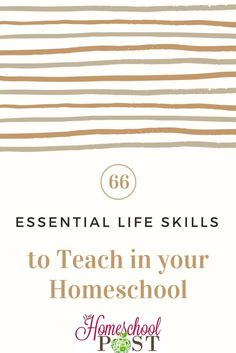 Check out this list of important life skills that we need to teach in our homeschool before the kids graduate. What would you add?