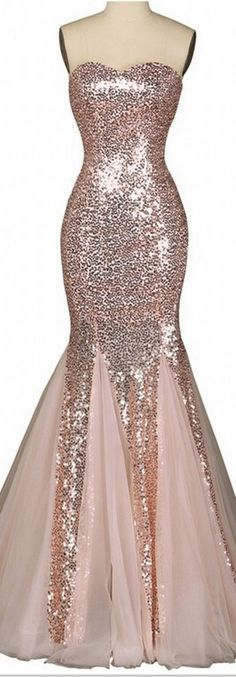 Nude Pink Women Party Dresses  Real Mermaid Sexy Sweetheart Floor Length Sequins Tulle Lace Up Evening Dress Prom Gowns