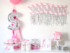 Pink Inspired SWEETS Party via momsbestnetwork.com
