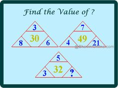 Triangle missing number riddle