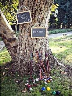 Lawn games to kill time between the ceremony & reception while the wedding party… - Lawn Games Lawn Games Wedding, Garden Party Wedding, Diy Wedding, Wedding Ideas, Wedding Stuff, Dream Wedding, Wedding Inspiration, Garden Party Decorations, Wedding Decorations