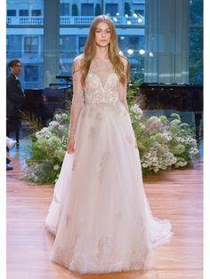 Hochzeitskleider 2017: Kleid mit Tüll, Spitze und transparenten Lagen  Monique Lhuillier