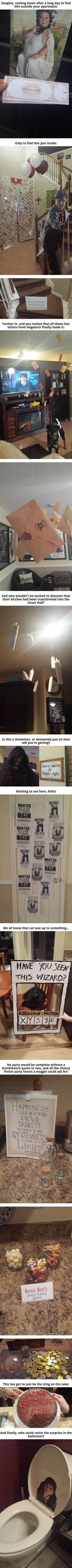 Awesome Harry Potter themed birthday party