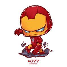 Iron Man by Jr Pencil on ArtStation. Hero Marvel, Chibi Marvel, Marvel Art, Marvel Dc Comics, Captain Marvel, Marvel Avengers, Spiderman Chibi, Captain America, Marvel Drawings