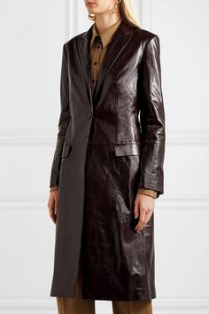 Your Definitive Guide to Fashion Investment Pieces Best Leather Jackets, Long Leather Coat, Seventies Fashion, Dark Roast, French Girls, Colored Denim, Coats For Women, Fashion Models, How To Look Better