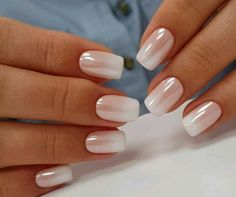 sorta french tip style. like this #FrenchTipNails #ChoosingNailTips