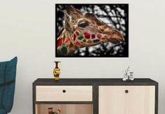 Giraffe - Logo kaufen, Geschenkidee, Webbanner, Wandplakat, Grafik design, Vektorgrafik, Flyer, Portrait nach Foto Web Banner, Flyer, Grafik Design, Flat Screen, Portrait, Poster, Pictures, Room Wall Decor, Wall Prints